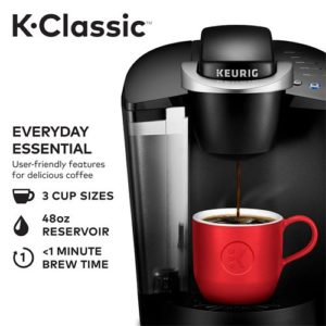 keurig k55 coffee maker black