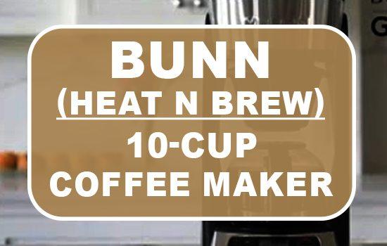 bunn 10-cup programmable coffeemaker