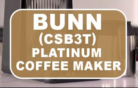 bunn csb3t speed brew platinum