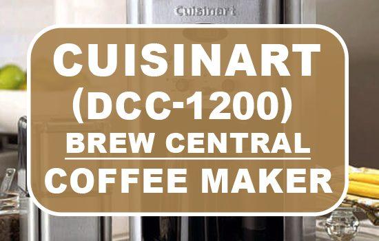 cuisinart brew central dcc-1200