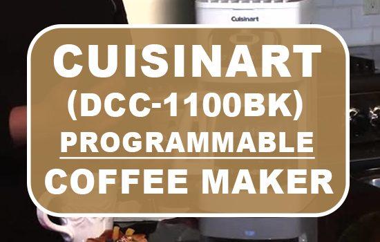 cuisinart coffee maker dcc 1100BK