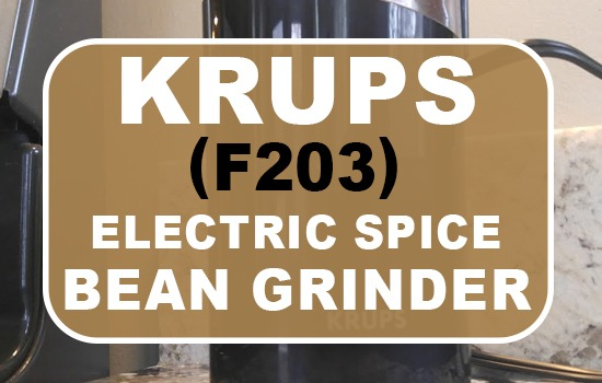 KRUPS F203 Electric Spice And Coffee Bean Grinder